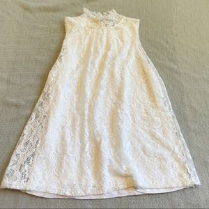 cable & gauge White Lace High Neck Tank